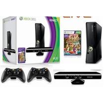 Xbox 360 Completão Hd 500gb + Kinect+10 Jogos + 2 Controles