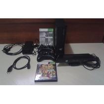 Xbox360 4gb C/ Kinect + 2 Controles S/fio+ 2 Jogos Originais