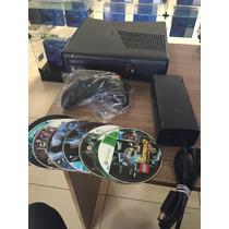 Xbox 360 Slim 4gb + 10 Brindes + Jogar Online + Garantia.