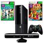 Xbox 360 4gb Com Kinect Controle S/ Fio +2 Jogos Originais