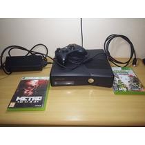 Xbox 360 4gb Bloqueado Com 2 Jogos + Cabo Hdmi