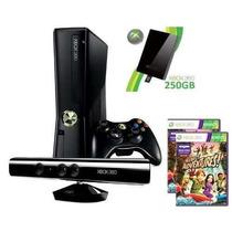 Xbox 360 250gb C/ Kinect + Controle S/ Fio