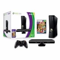Xbox 360 Slim 4gb + Sensor Kinect + 2 Jogos + 2 Controles