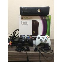 Xbox 360 Slim Dest +2 Controles S/fio +20 Jogos +12x S/juros