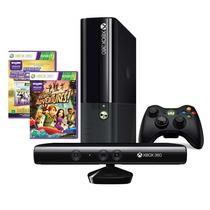 Console Xbox 360 4gb + Kinect Sensor + 2 Jogos 1 Controle