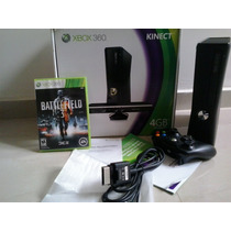 X-box 360 Slim 4gb Na Caixa Com Kinect