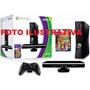 Xbox 360 Travado, Um Controle + Kinect + Cabo Hdmi + 1 Jogo