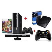Xbox360 S.slim 4gb Jtag+ Kinect+200 Jogos + 2 Controles