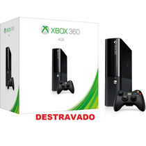 Xbox 360 S. Slim 4gb Rgh + 3.0 + 10 Jogos+ Roda Dvd E Hd