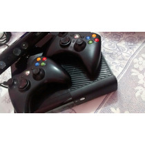 Xbox360 .. 2 Controles , 1 Kinect , E Hd De 300 Gb Travado