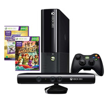 Console Xbox 360 4gb + Kinect Sensor + 2 Jogos + Controle