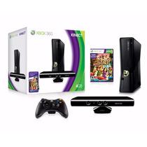 Xbox360 Slim 4gb Ltu +live+kinect+ Hdmi + 20 Jogos