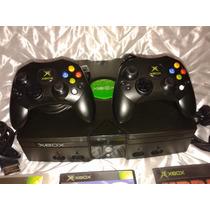 Xbox Clássico Com 2 Controles Originais