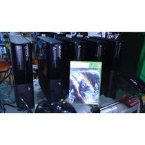 Xbox360 Super Slim 4gb + Cabo Av + Fonte + Manual + Original