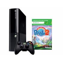 Video Game Xbox 360 4gb + 1 Jogo Peggle 2 978244