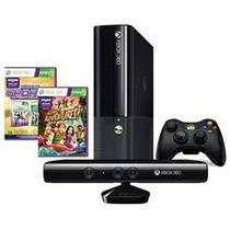 Console Xbox 360 4gb Com Kinect + Controle Sem Fio + Jogo K