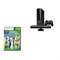 Xbox 360 App 4gb Super Slim Com Kinect + Jogo Adventure S...