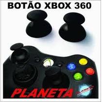 Botões Analógicos Black Xbox 360 Original Novo - Par