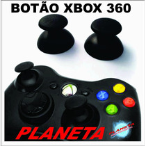 ***** Botão Analógico Xbox 360 - Black Original - Par *****
