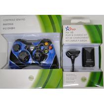 Manete Xbox 360 Com Bateria -controle Xbox Com Bateria