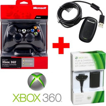 Controle Xbox 360 Sem Fio Wireless + Receiver Pc + Bateria