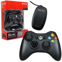 Controle Xbox 360 Pc Sem Fio Com Receiver Original Microsoft
