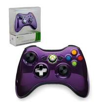 Controle Xbox 360 Wireless Chrome Series Purple Roxo