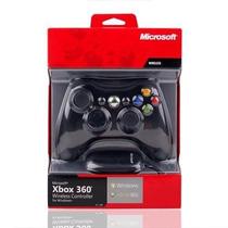 Controle Xbox 360 Pc Sem Fio Com Receptor Usb Original P/ Pc