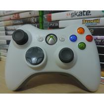 Controle Wireless Xbox 360 Branco Original Microsoft