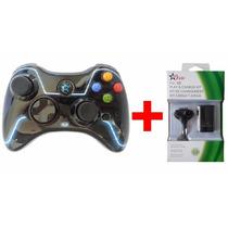 Kit 1 Controle Sem Fio Personalizado + 1 Bateria Xbox 360
