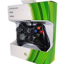 Controle Com Fio Usb Para Xbox 360 / Pc/ Mac Preto Ou Branco