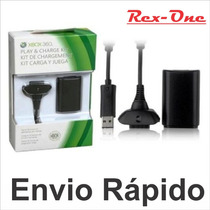 Kit Carregador + Bateria Do Controle Xbox Preto Play-charge
