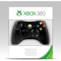 Controle Sem Fio Preto Xbox 360 Original