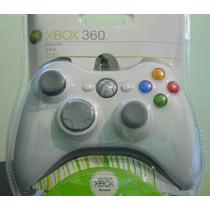 Controle Xbox 360 Original Microsoft C/ Fio Wireless Branco