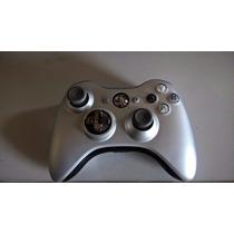 Controle Xbox 360 Prata Chrome Edition Original +carregador