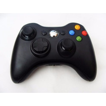 Controle Xbox 360 Sem Fio Wireless Preto Fosco