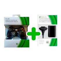 Controle Xbox 360 Sem Fio + Bateria Carregador 24.000 Mah
