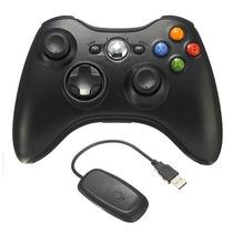 Controle Xbox 360 Sem Fio Wireless Com Receptor Usb Pc