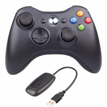 Joystick Xbox 360 + Receiver Controle Wireless P/ Pc G18 Nf