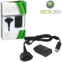 Bateria Carregador Para Controle Xbox 360 10000 Mah + Cabo