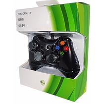 Manete Controle Com Fio Para Xbox 360 Slim Pc Notebook