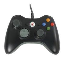 Controle Com Fio Knup Xbox 360 Kp-5121a Novo Preto