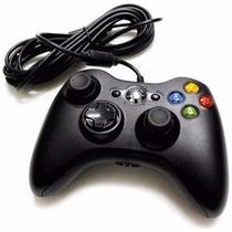 Controle Com Fio Xbox 360 E Pc Slim Joystick