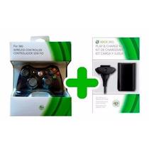 Controle Xbox 360 Sem Fio + Bateria Carregador 28.000 Mah
