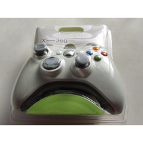 Controle Joystick Xbox 360 E Pc Branco Com Fio