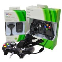 Kit 1 Controle Sem Fio + 1 Carregador Bateria Xbox 360 Slim
