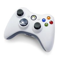 Controle Xbox360 Wireless Branco Da Microsoft Original 100%