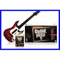 Guitar Hero 5 Xbox 360 E Guitarra Original Rock Band Xbox360