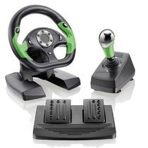 Volante Para Xbox 360 E Pc Com Pedal E Cambio