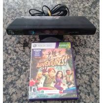 Xbox 360 - Sensor Kinect C/ Jogo Adventure